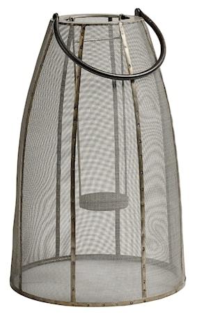 Lanterna Safari metallnät 47 cm - Grå