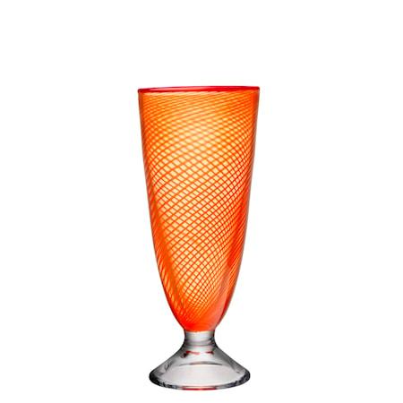 Bilde av Kosta Boda Red Rim Oransje Vase 26 cm