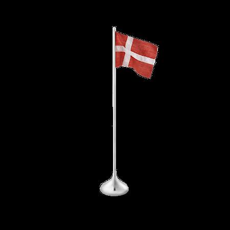 Bordsflagga dansk H35 silverfärgad