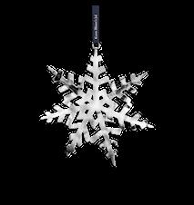 Kristall-stjärna, 18 cm, försilvrad