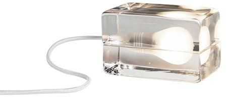 Bilde av Block Lampa med tekstilledning Hvit