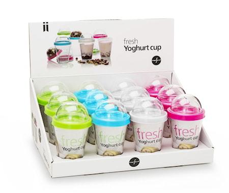 Fresh yoghurtbägare display, 12-p