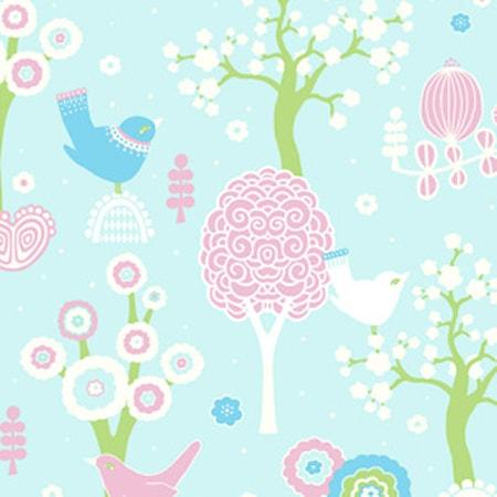 Färg & Form Moln Wallpaper Blå