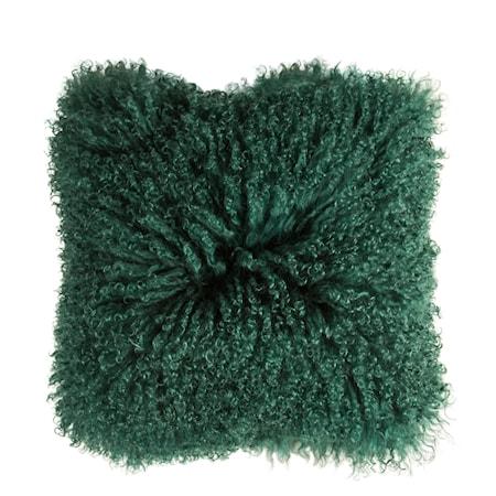 Kudde Tibetan Fårpäls Grön 40x40 cm