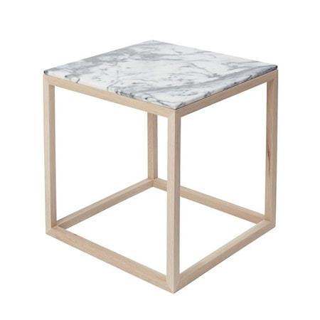 Kristina Dam Studio Cube Sidobord Small Marmor - ek/tigerskin thumbnail