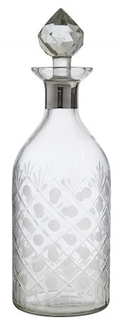 Glass decanter, round, platinum, diamond