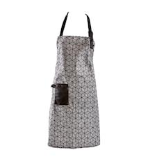 Förkläde Polyester/Bomull Svart/Vit 80x64 cm