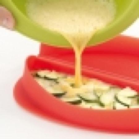 Omelettform Lékué röd