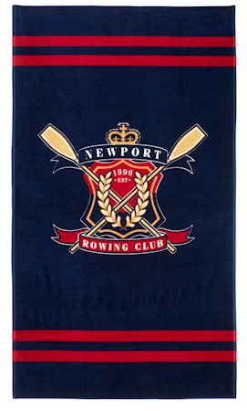 Newport Collection Rowing Club beach towel