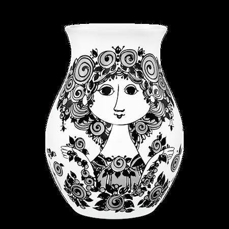 Bilde av Björn Wiinblad Vase, Rosalinde, svart H26 cm