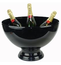 Spumante nero- Champagneskål av plast med metallfot