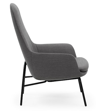 Normann Copenhagen Era Lounge Chair High Steel - Breeze Fusion