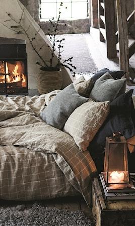 Lovely Linen by Kardelen Lovely linen wool/linen kuddfodral – Natural