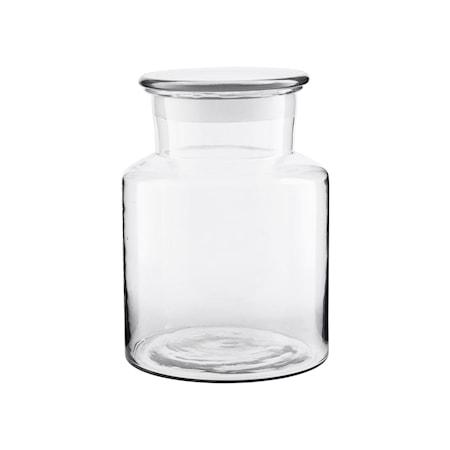 Burk med Lock Glas Ø18 cm