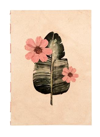 Flora Notebook Peach Large