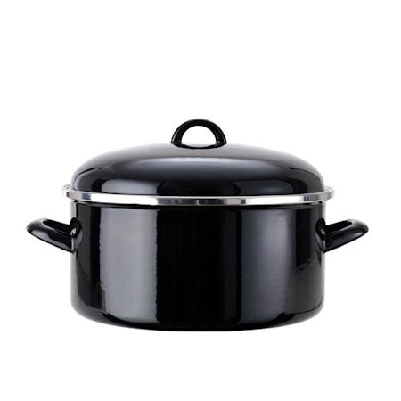 Hahn Kitchenware Emaljoitu Pata Ø 26 cm Musta