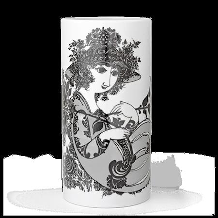 Bilde av Björn Wiinblad Vase, Olympia, grå, H 24 cm, sylinder