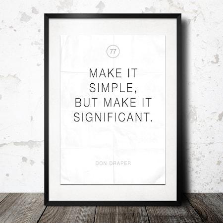 Bilde av Konstgaraget make it simple poster
