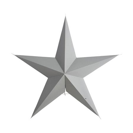 Julstjärna 5 point 60 cm - Grå