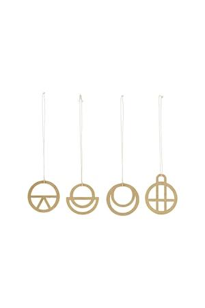 House Doctor Ornament Dreams 4st Ø 4 cm – Gul