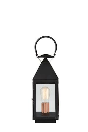 Herstal Veneto lyktlampa H42 – Svart med strömbrytare
