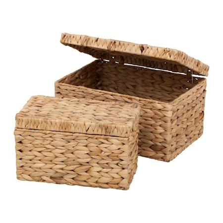 Box med lock Vattenhyacint Fishbone 2 st