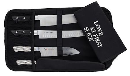 SATAKE Satake knivrulle i kraftig nylon för 4 knivar