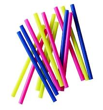 Sugrör Blandade Färger 15 cm Colorix 50-pack