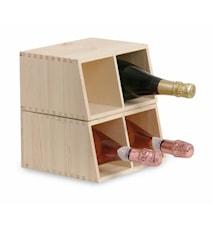Cantinetta 2/4 bt- Presentlåda för 2 flaskor + Vinställ för 4 flaskor