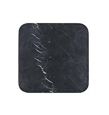 Serveringsfat 30x30x1 cm svart marmor