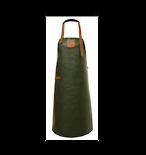 Förkläde Läder Grön/Konjak