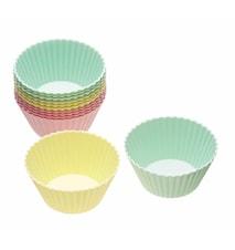 Cupcakeform Silikon 12-pack Olika färger