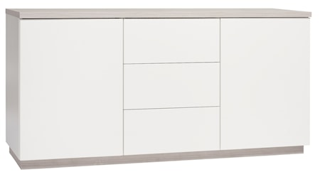 Hiipakka Sonaatti skänk - 150 cm - vit/ask