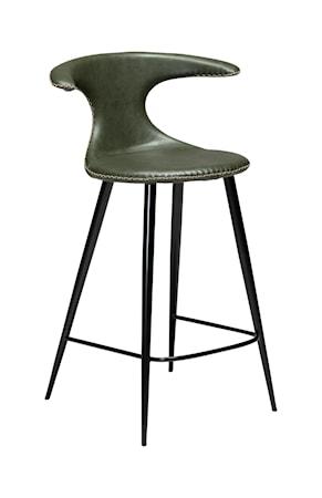 Dan Form Denmark Barstol Flair Konstläder 90 cm - Vintage Grön