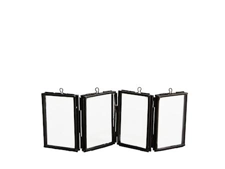 Madam Stoltz Taitettava Valokuvakehys 6,5x5 cm - Musta