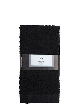 Galzone Håndklæde - 100% bomuld - 400 g - Sort - L 70,0cm - B 50,0cm - Sleeve - Stk. thumbnail