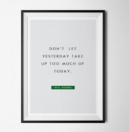 Bilde av Konstgaraget Will rogers quote poster