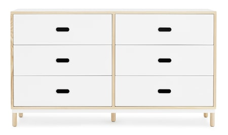 Normann Copenhagen Kabino 6 drawers byrå - Vit