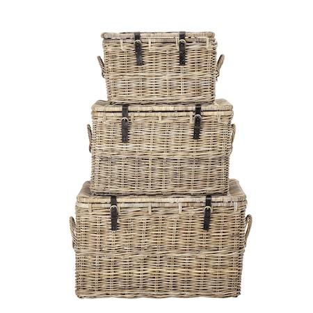 Picknick/Förvaringskorg Rotting 3 st