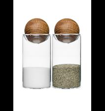 Oval oak salt- och pepparset