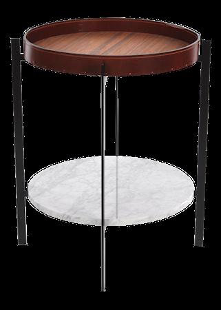 OX DENMARQ Deck sidobord - Leathertray/cararra/black