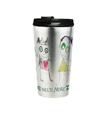 Poul pava poets The world needs more flowers To-go mugg 38 cl