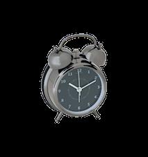 Wake-up Svart 9 cm