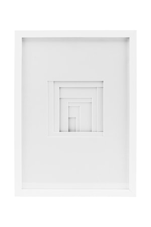 Väggdekoration Relief fyrkant 30x42 cm Vit