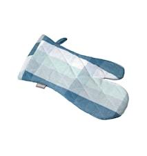 Grillvante rutig provenceblå/pärlblå/pärlgrön