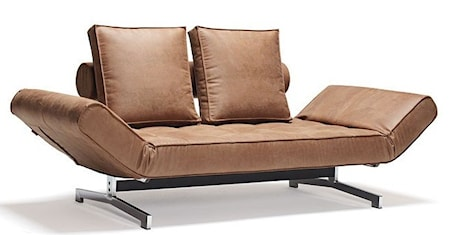 Innovation Ghia bäddsoffa ? Leather look brown