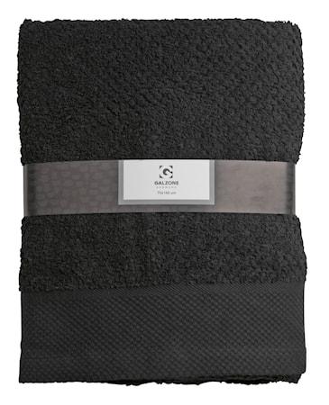 Galzone Håndklæde - 100% bomuld - 400 g - Sort - L 140,0cm - B 70,0cm - Sleeve - Stk. thumbnail