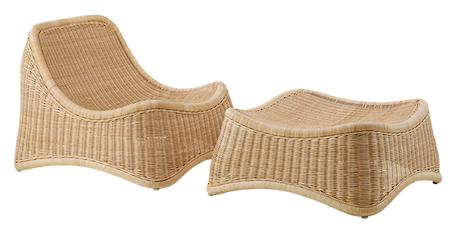 Sika Design Chill fåtölj & fotpall loungeset – För inomhusbruk