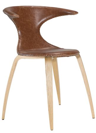 Dan Form Denmark Flair stol ? Ljusbrunt läder, ek
