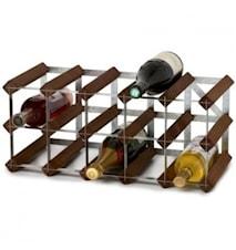 15 Flaskors Påbyggnadsbart Vinställ